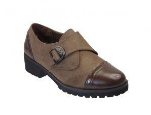 Tsimpolis Shoes BA433 Γυναικείο Oxford Από Τεχνοκαστόρ Χακί